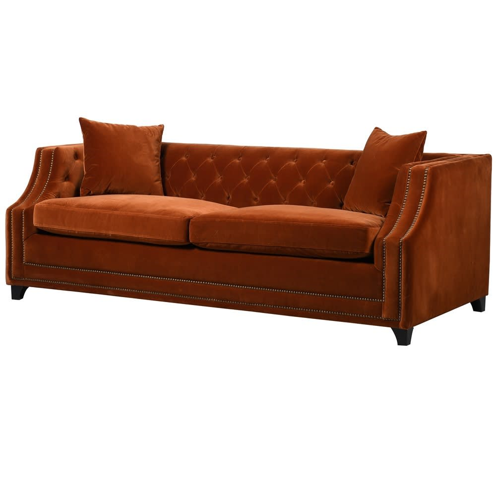 Tangiers Sofa Bed in Orange Upholstery