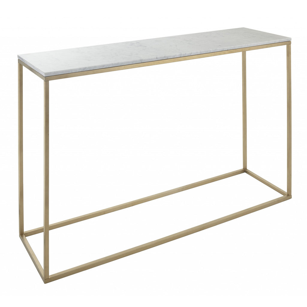 RV Astley Faceby Square Gold Console Table