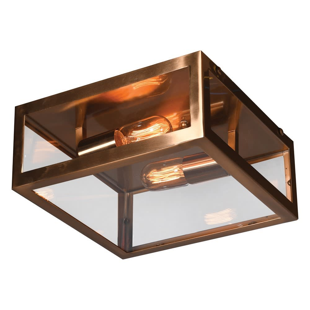 Tarragona Square Ceiling Light with Bronze Colouring