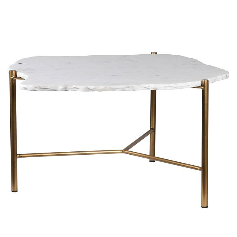 Tervia Gold & White Stone Table