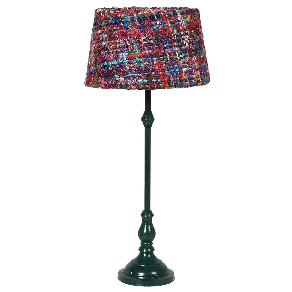 Textiles On Your Table Lamp in Silk and Brass