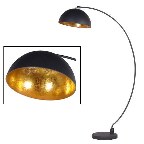 The Arc Black & Gold Metal Floor Lamp