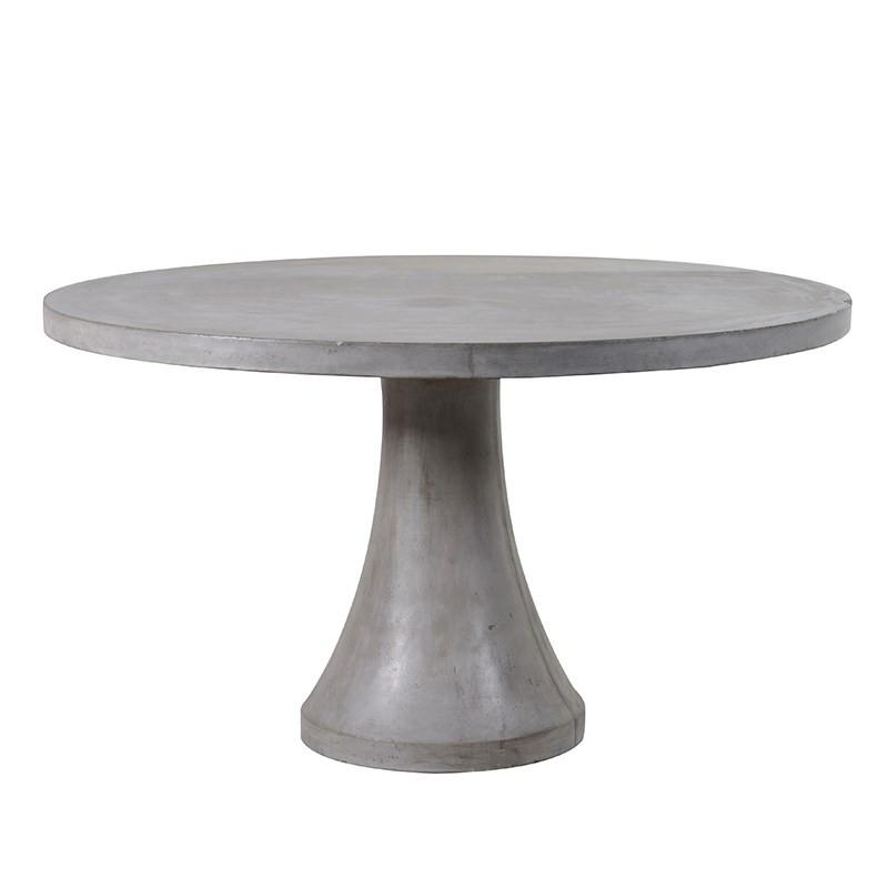 Barbican Concrete Round Table in Grey