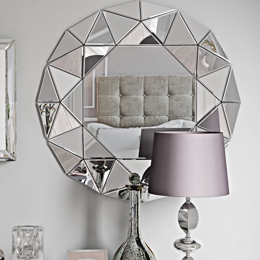 The Brilliant-Cut Round Mirror