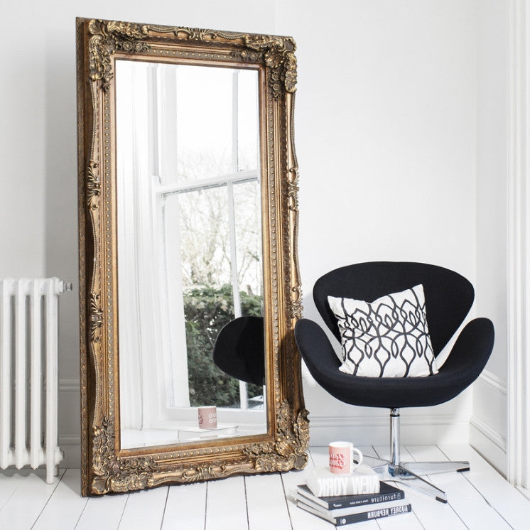 The Grande Dame Baroque Floor Mirror