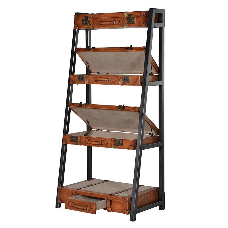 The Great Escape Leather Trunk Shelf Unit