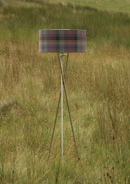 The Harris' Crimond Heather Tartan Tripod Floor Lamp