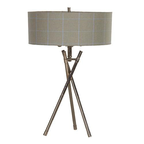 The Harris' Tomintoul Tartan Tripod Table Lamp