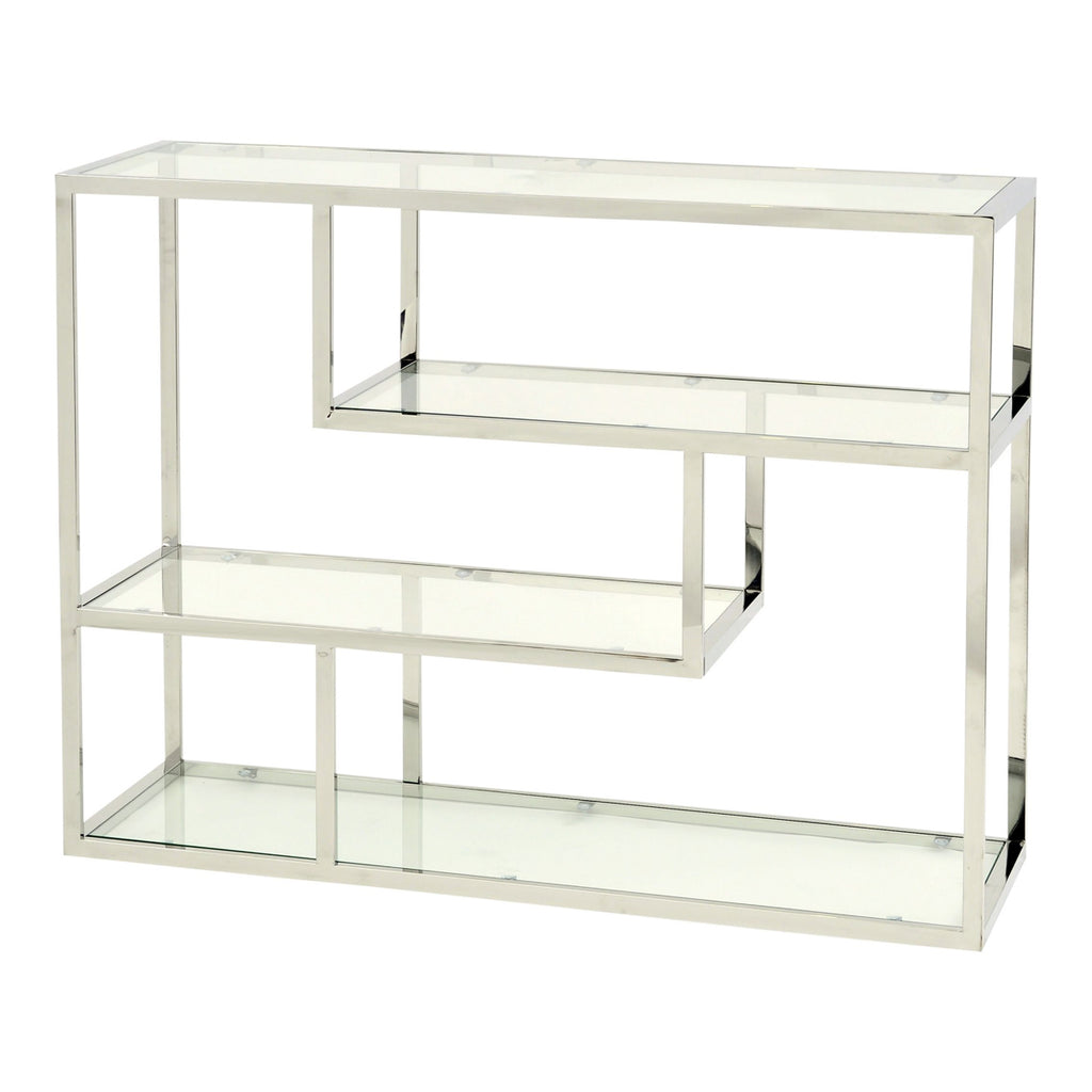 The Piet Art Deco Silver & Glass Display Unit