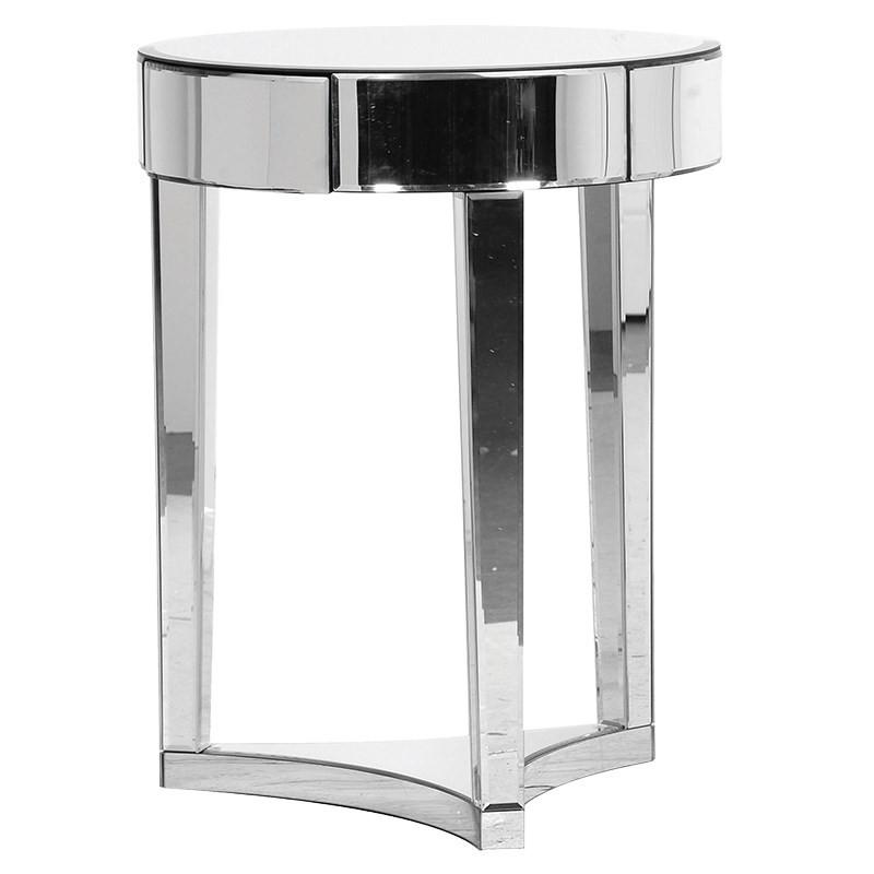 The Venice Mirrored Round Side Table