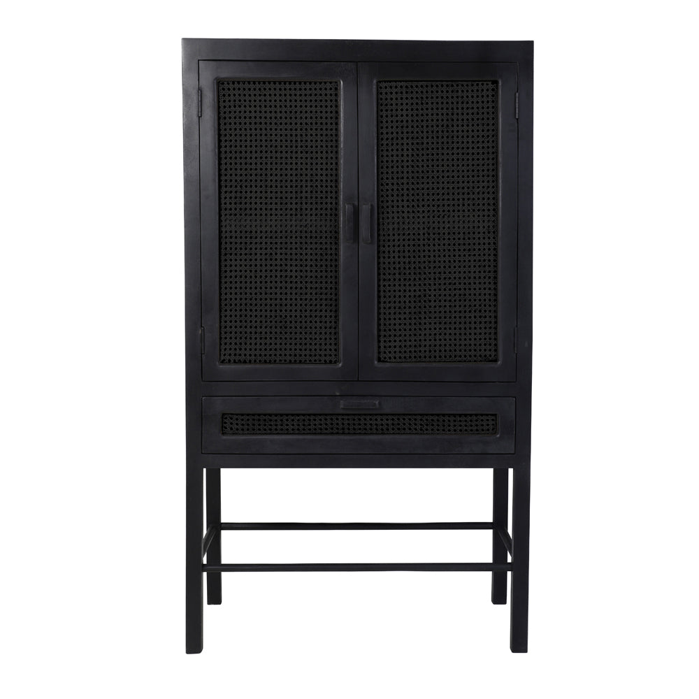 Toranelli Cabinet with Black Wood and Webbing