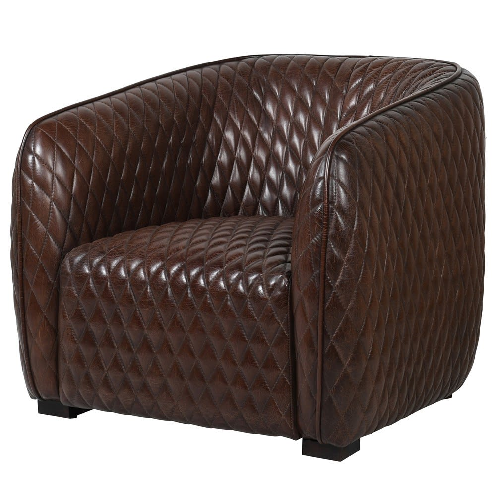 Travis Armchair in Brown Leather