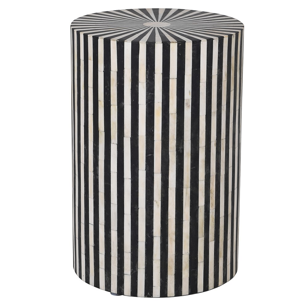 Trickeria Side Table with Stripes