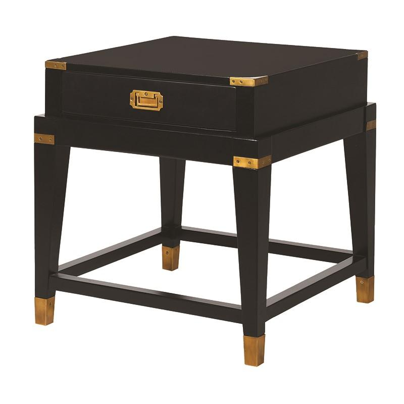 Truman Small Black and Gold Bedside Table