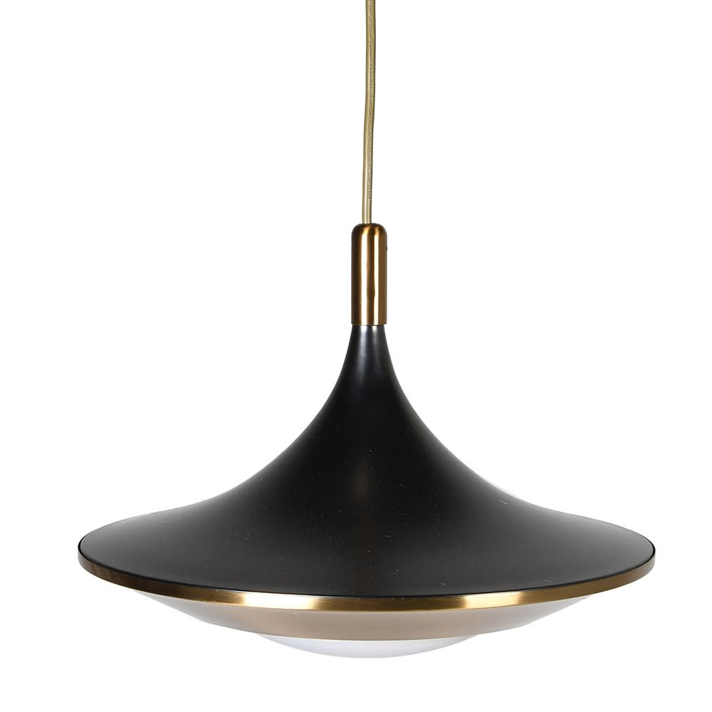 Ulana Pendant Light with Black and Gold