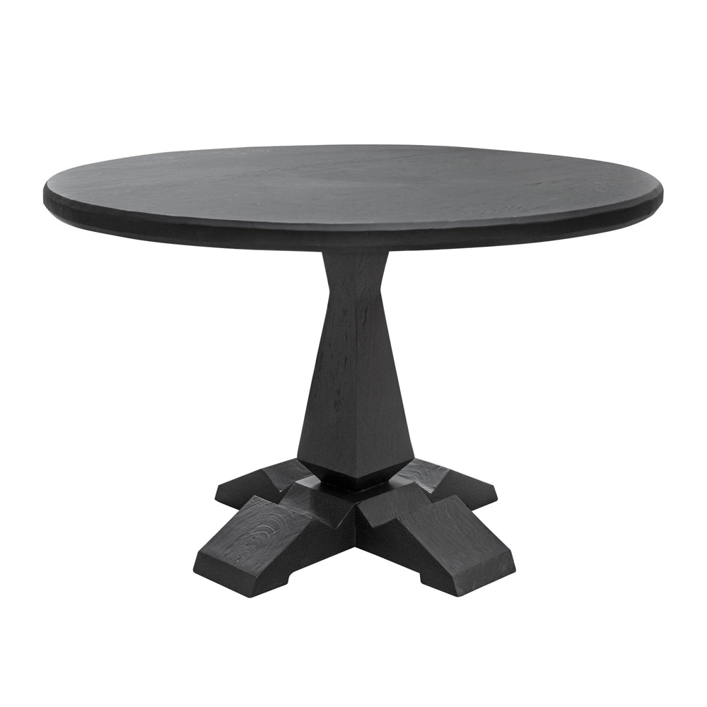 Varula Black Dining Table with Reclaimed Wood