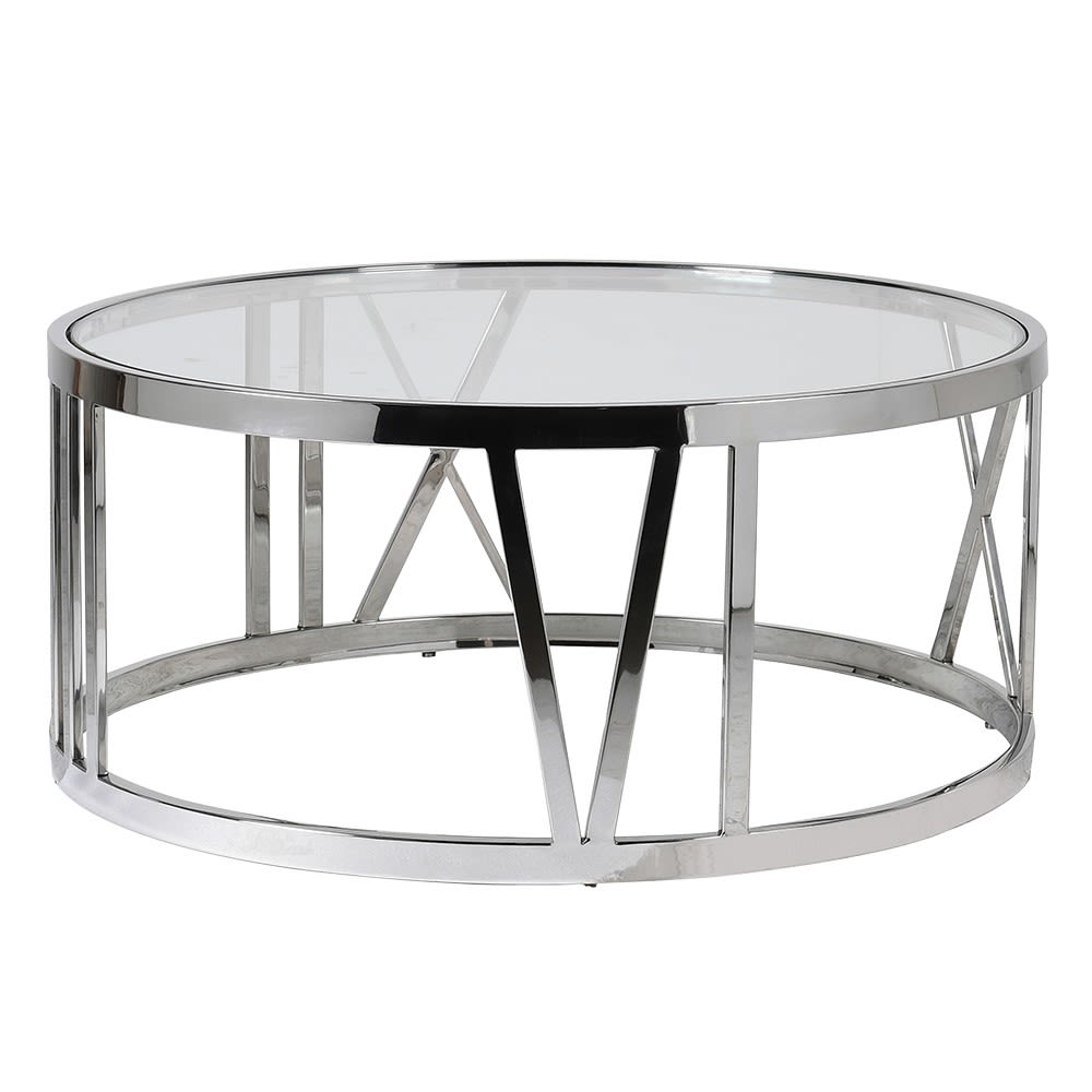 Veni Vedi Coffee Table in Steel and Glass