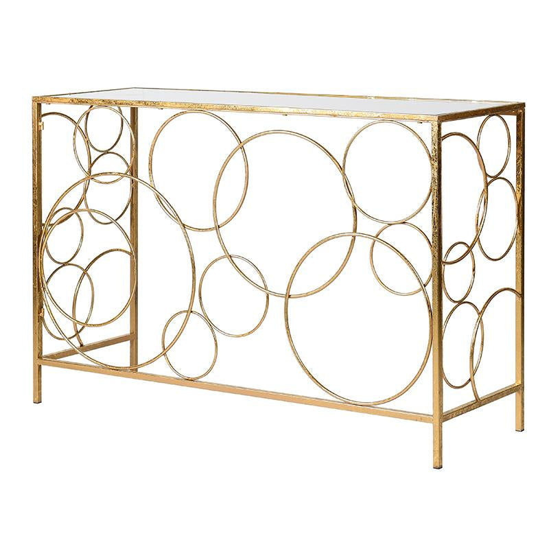 Verona Gold Console Table