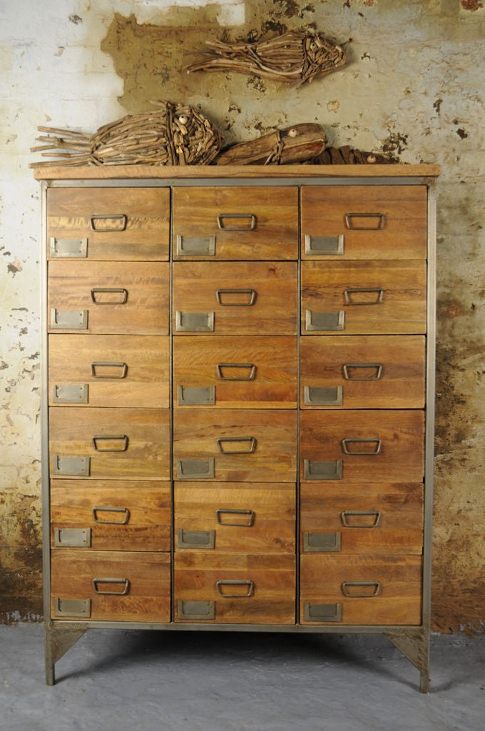 Vintage Industrial Apothecary Chest