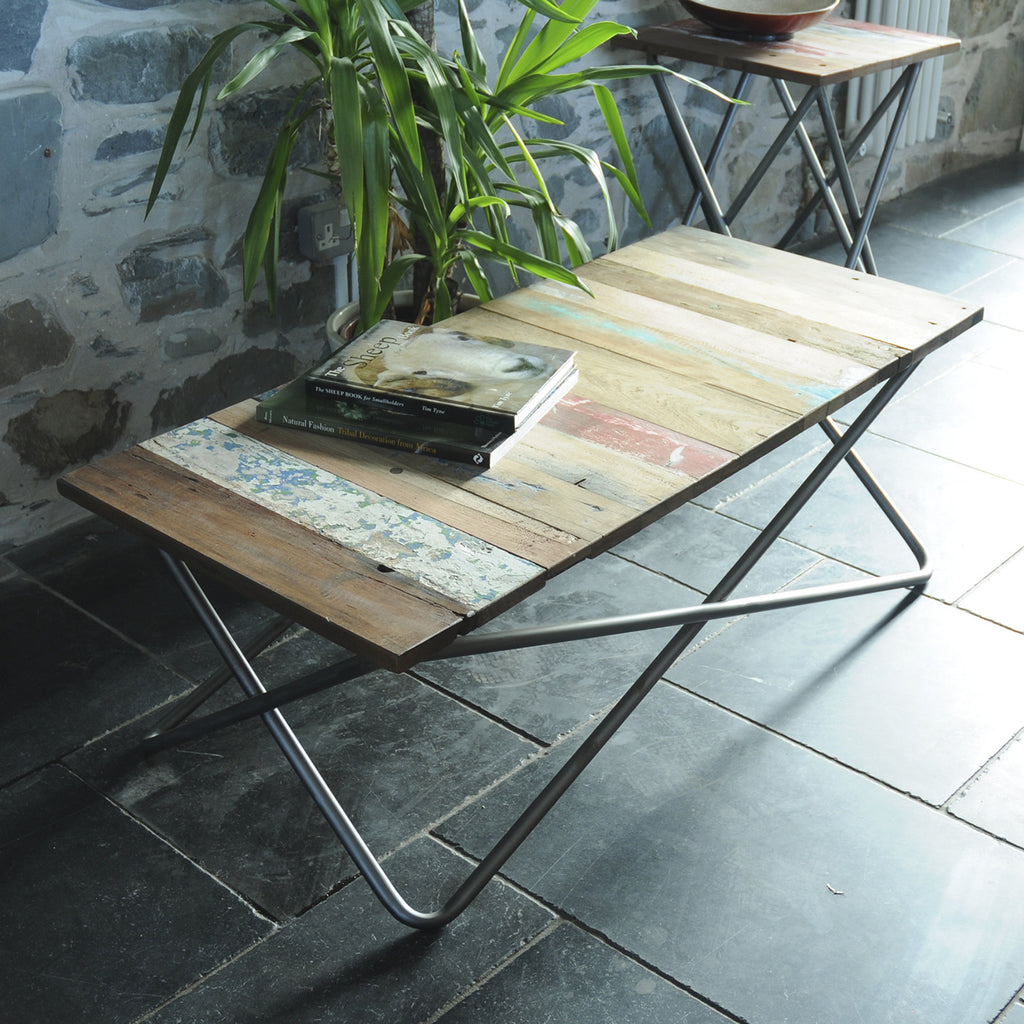 Vintage Industrial Criss Cross Coffee Table