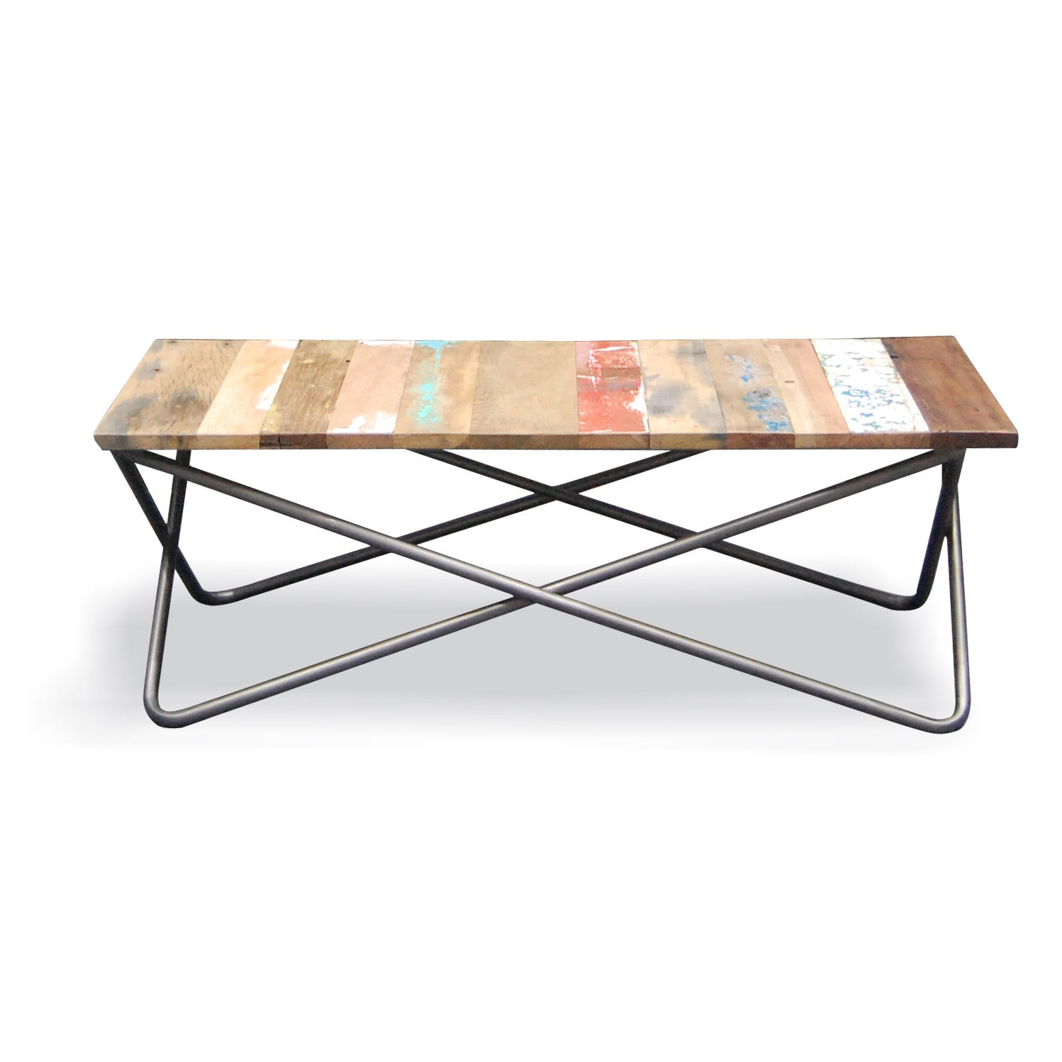 Vintage Industrial Criss Cross Coffee Table – Shropshire Design