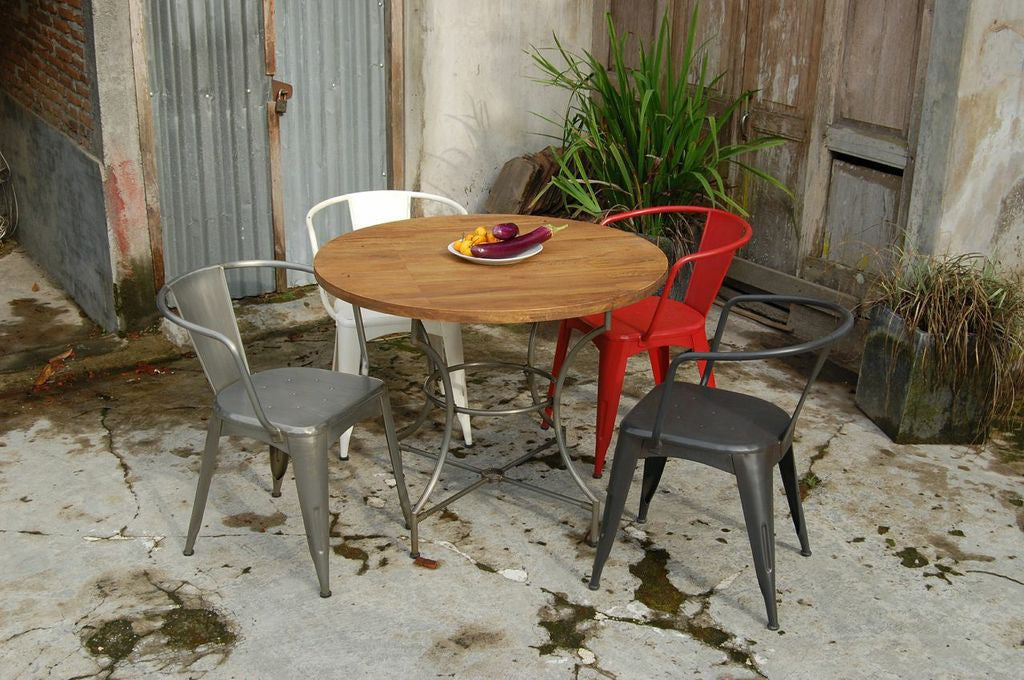 Vintage Industrial Dining Table Chairs