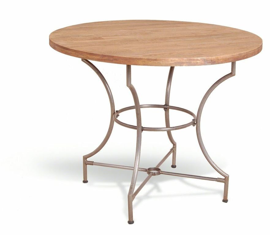 Great Vintage Industrial Round Bistro Table