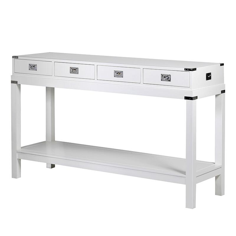 White and Chrome Park Lane Console