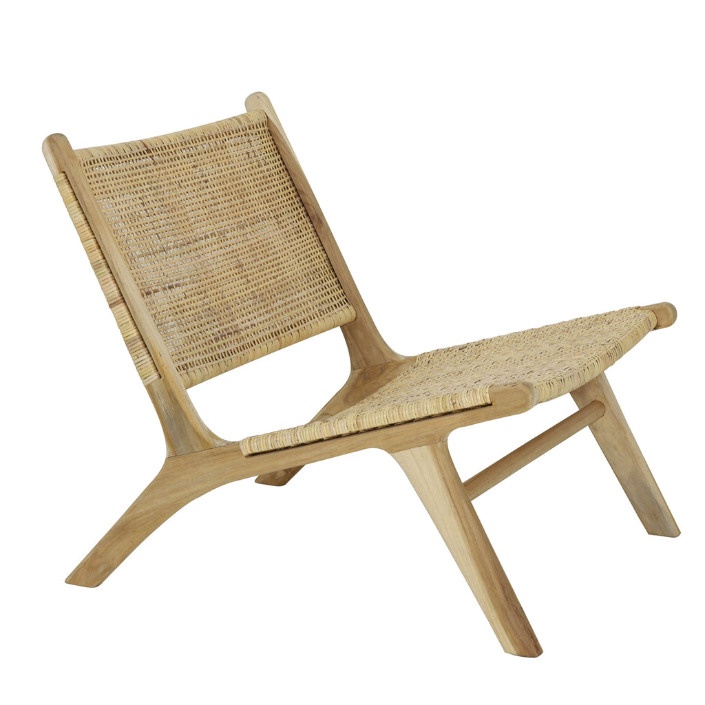 Wimbledon Chair in Rattan and Teak