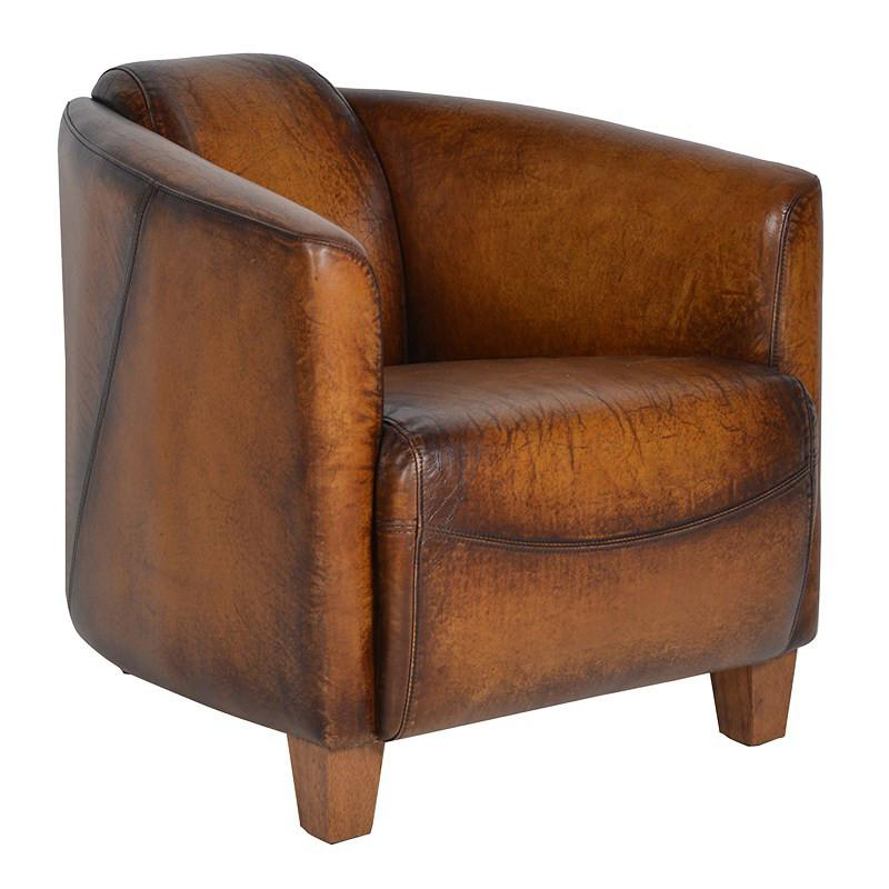 Woodstock Rocket Tan Leather Chair