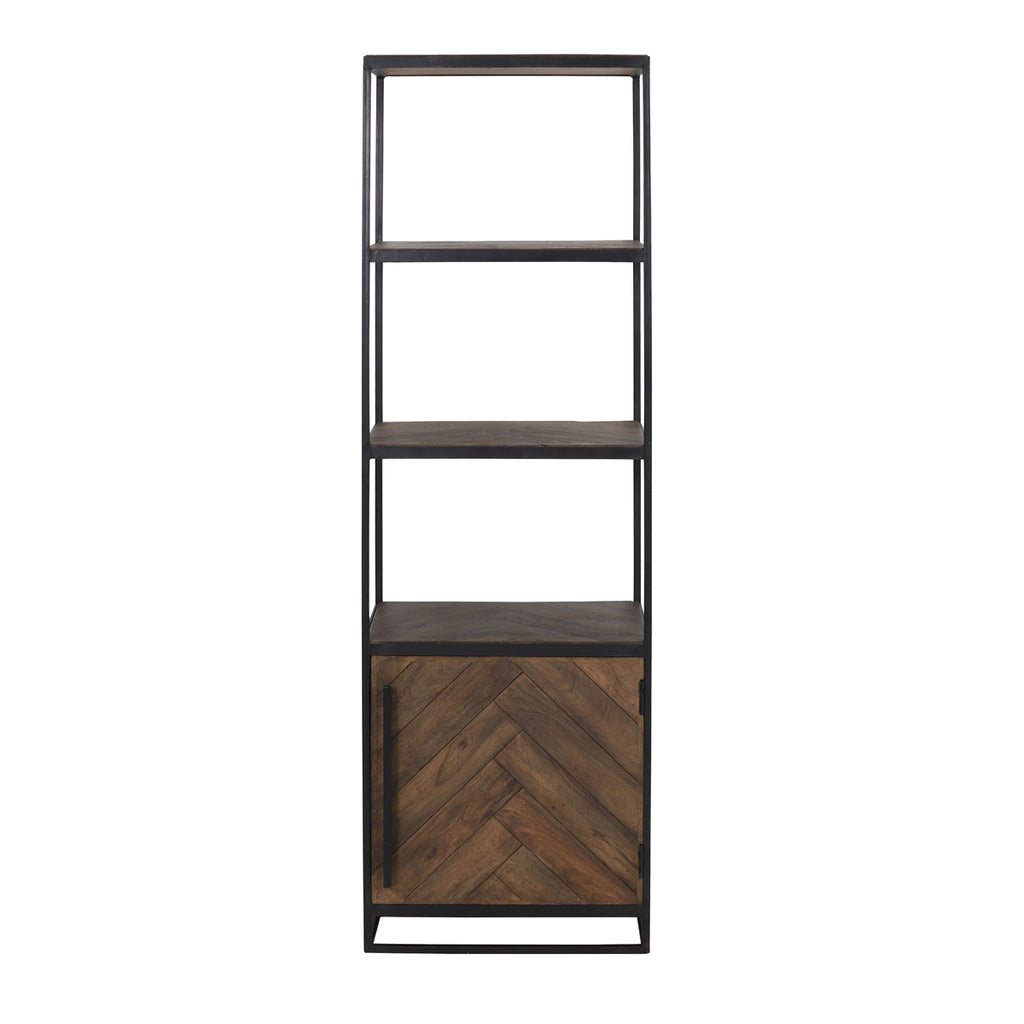 Yucata Shelving Cabinet with Black Metal
