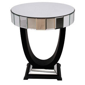 Quartz Black Mirrored Side Table