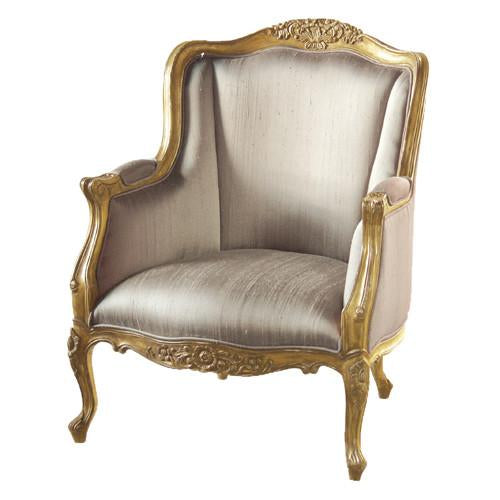 Sun King Gold Silk Arm/Wing Chair