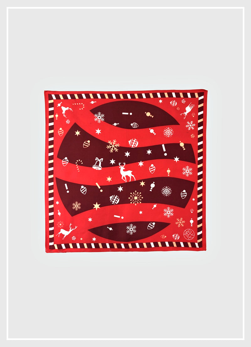 Dancer Reindeer Christmas Silk Scarf