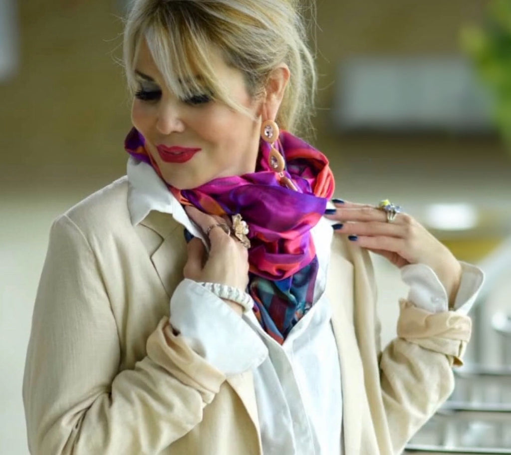 Intimacy Silk Scarf - Pink