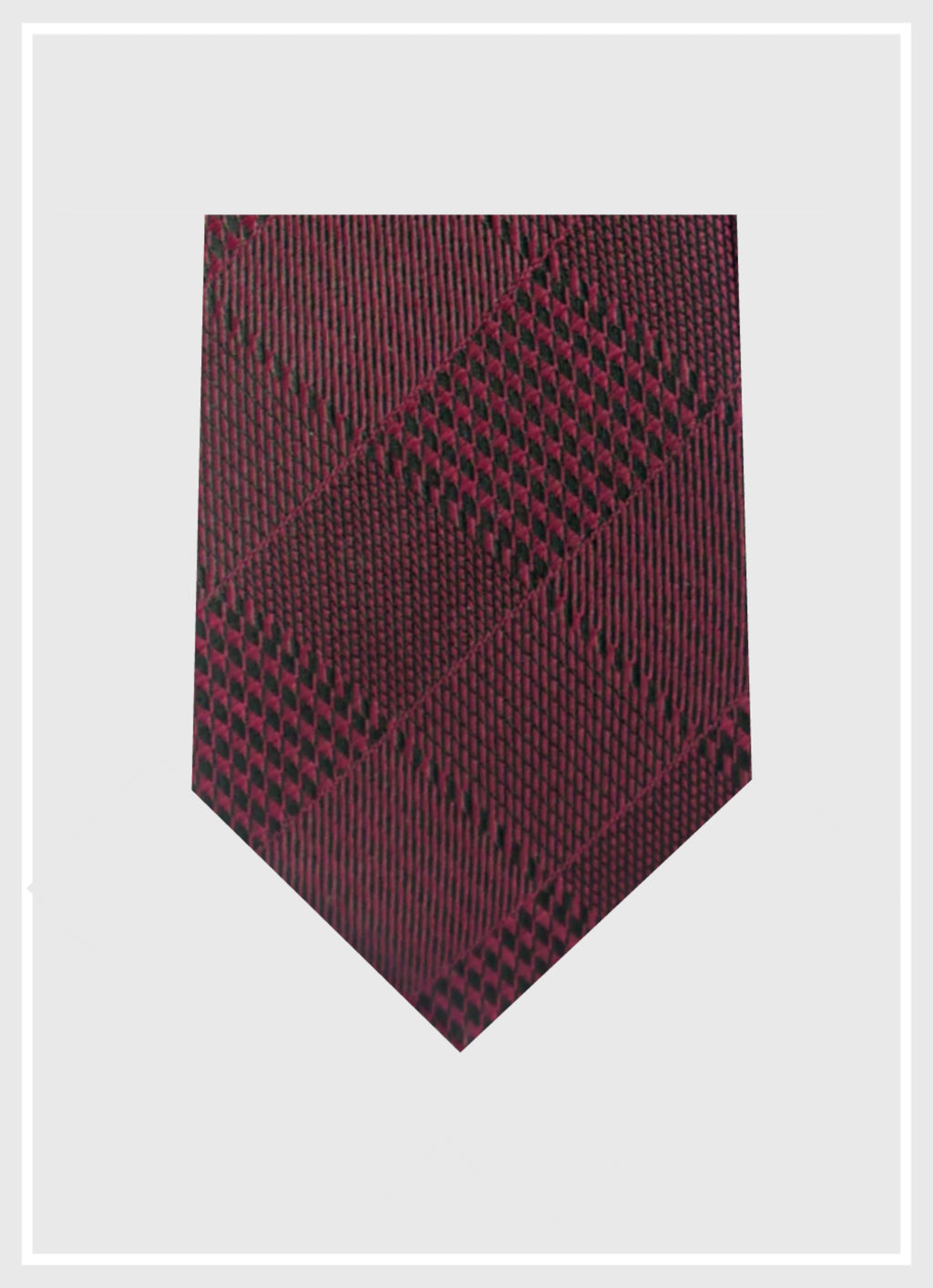 Chic Wine Red Silk Tie