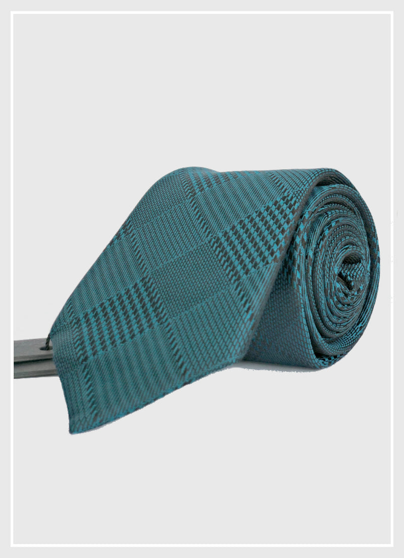 Chic Dark Green Silk Tie