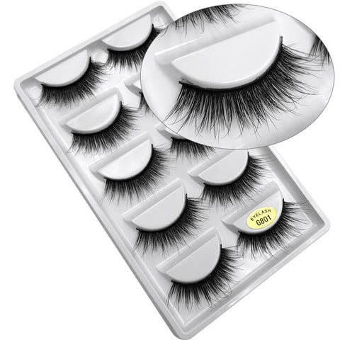 Image of 5 pairs of 3d mink lashes