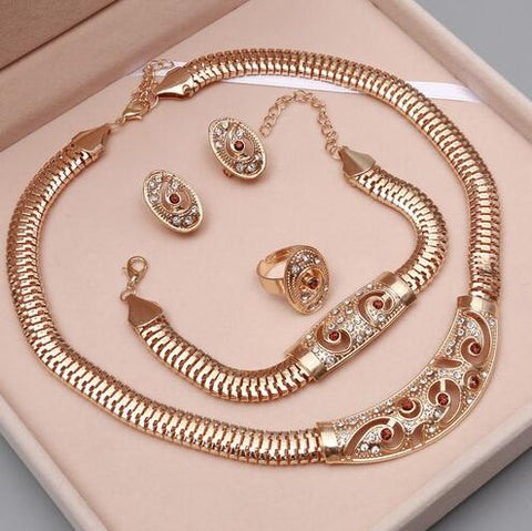 Image of golden jewelry set