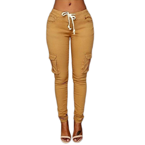 Image of Elastic Sexy Skinny Pencil pants
