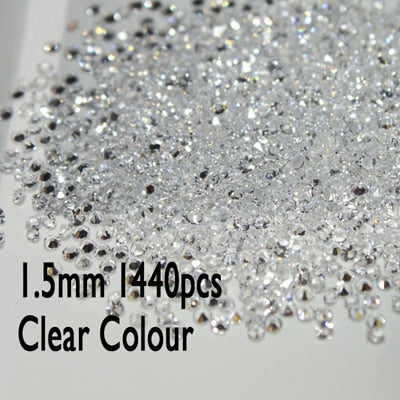 Image of UNfoiled MIX Sizes Crystal Nail Art