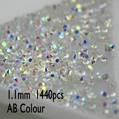 UNfoiled MIX Sizes Crystal Nail Art