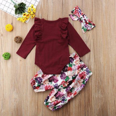 Image of Baby girl sleeve romper