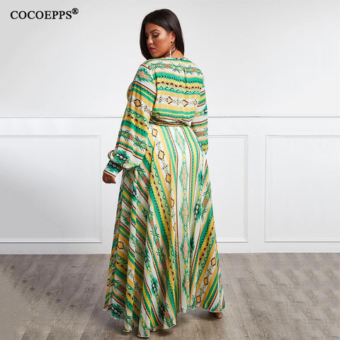 Image of Vintage Boho Dress Plus Size Maxi Dress