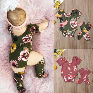 Baby Girls Floral  outfit