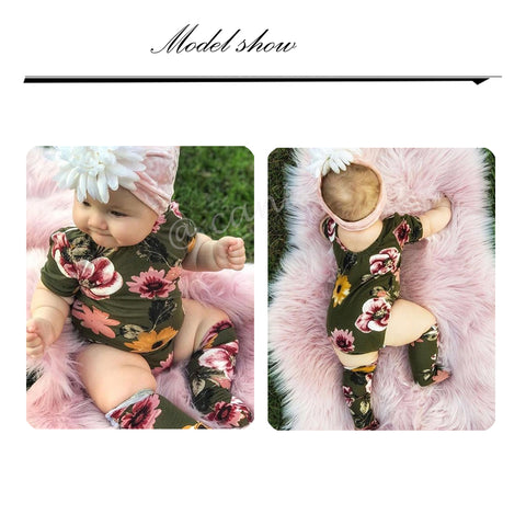 Image of Baby Girls Floral  outfit