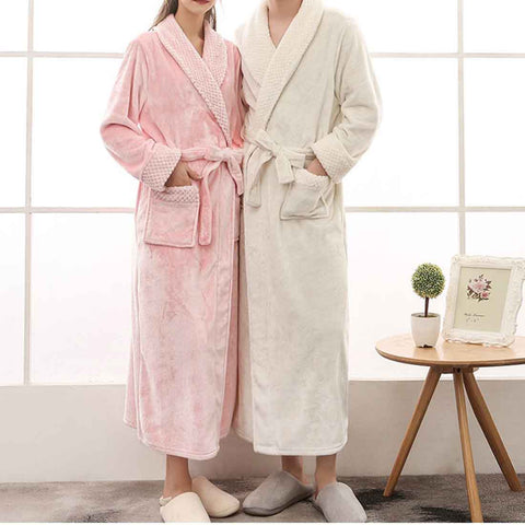 Image of Winter Fashion Couples robe
