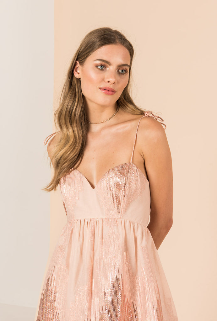 Gold Dust High Low Dress