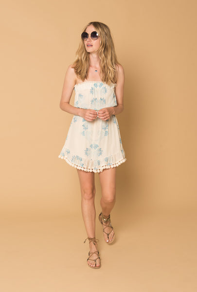Morning Mist Pompom Dress