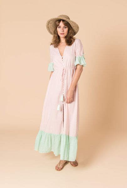 Dust in the Wind Button Dress